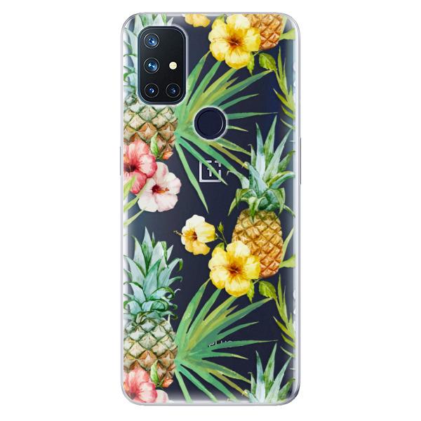 Odolné silikonové pouzdro iSaprio - Pineapple Pattern 02 - OnePlus Nord N10 5G
