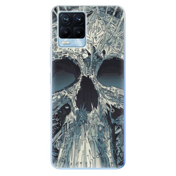 Odolné silikonové pouzdro iSaprio - Abstract Skull - Realme 8 / 8 Pro