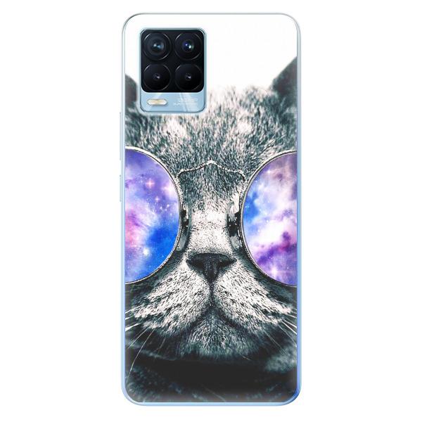 Odolné silikonové pouzdro iSaprio - Galaxy Cat - Realme 8 / 8 Pro