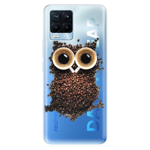 Odolné silikonové pouzdro iSaprio - Owl And Coffee - Realme 8 / 8 Pro