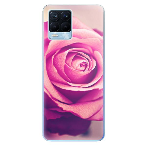 Odolné silikonové pouzdro iSaprio - Pink Rose - Realme 8 / 8 Pro