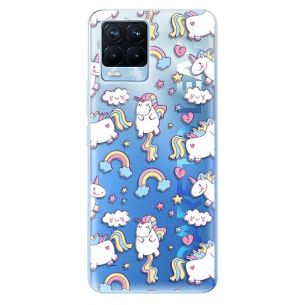 Odolné silikonové pouzdro iSaprio - Unicorn pattern 02 - Realme 8 / 8 Pro