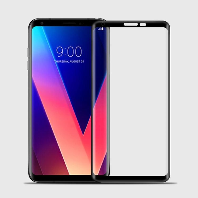 Tvrzené 3D sklo pro LG V30 - black