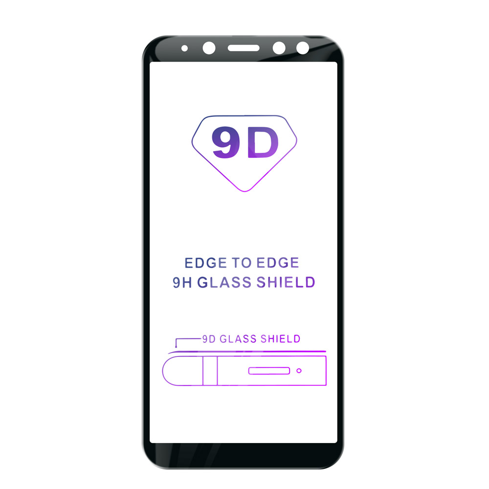Tvrzené sklo iSaprio 9D BLACK pro Samsung Galaxy A8 2018