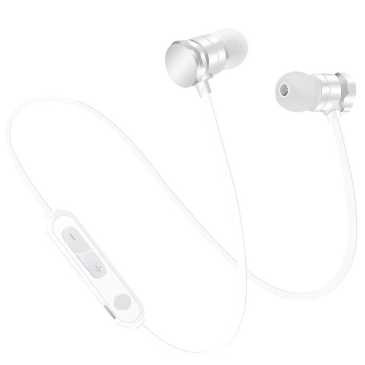 Bezdrátová sluchátka X3 Magnetic s mikrofonem - bílá