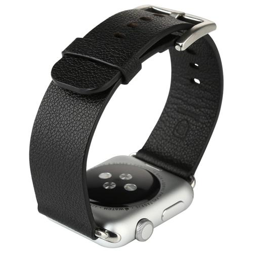 Kožený pásek / řemínek Baseus Classic Genuine Leather pro Apple Watch 42mm černý