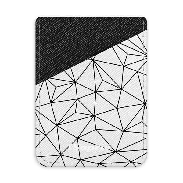 Pouzdro na kreditní karty iSaprio - Abstract Flower - tmavá nalepovací kapsa