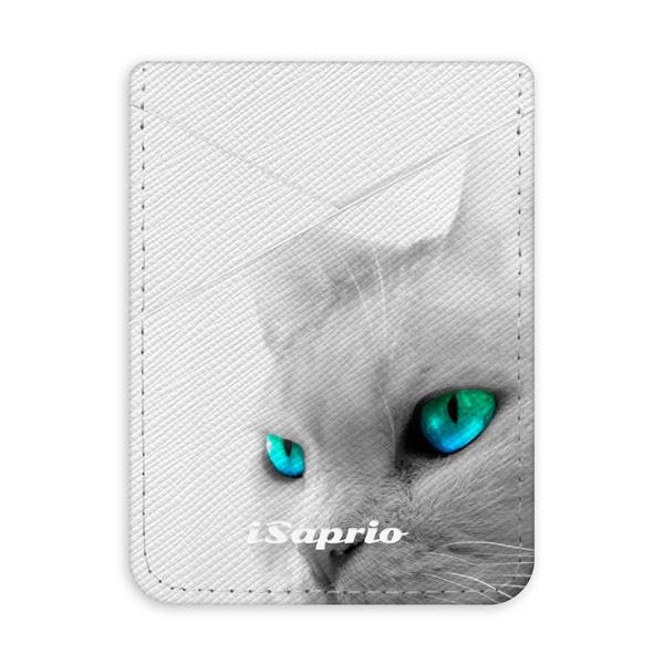 Pouzdro na kreditní karty iSaprio - Cats Eyes - světlá nalepovací kapsa