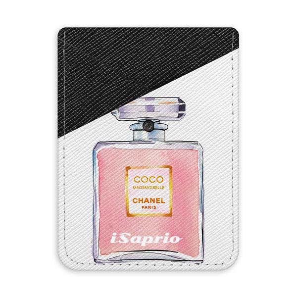 Pouzdro na kreditní karty iSaprio - Chanel Rose - tmavá nalepovací kapsa