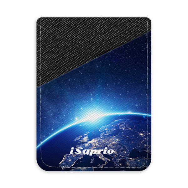 Pouzdro na kreditní karty iSaprio - Earth at Nigth - tmavá nalepovací kapsa