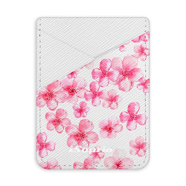 Pouzdro na kreditní karty iSaprio - Flower Pattern 05 - světlá nalepovací kapsa