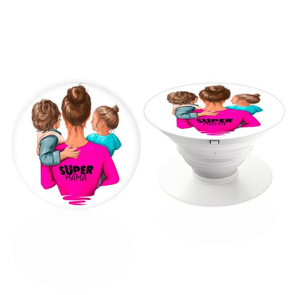 PopSocket iSaprio – Super Mama - Boy and Girl – držák na mobil